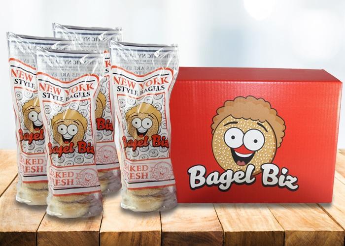 Bagel Biz 2 Dozen Bagels with Cream Cheese