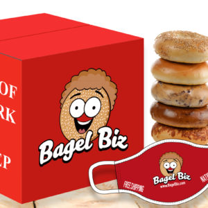 1 Dozen NY Bagels -Miz Everything Bagel Seasoning - Face-Mask